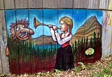 Стрит-арт в Бергене